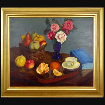 After Fantin Latour, Floral Oil painting created by Carol Sakai