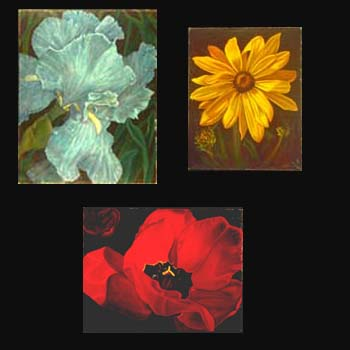 Floral Oil Paintings created by Carol S Sakai