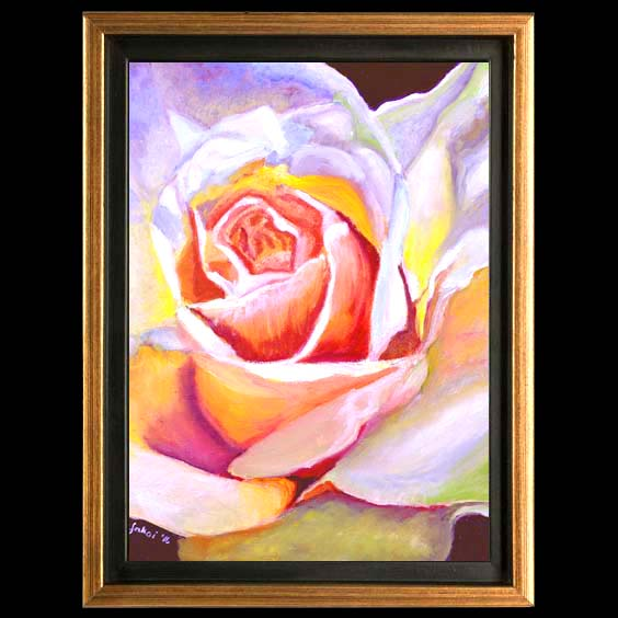 Compassion, Floral Oil painting created by Carol Sakai