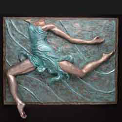 bas relief dance sculpture, entitled Swirl